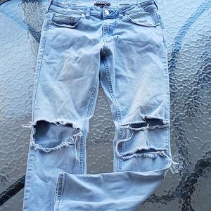 Pacsun Light Wash Distressed Skinny Jeans 30x30